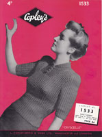 vintage ladies jumper knitting pattern
