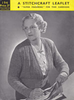 vintage ladies cardigna knitting pattern 1930s
