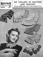 vintage collars in knitting and crochet 1930s