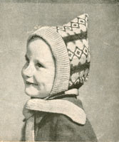 fair isle pixie bonnet patterns