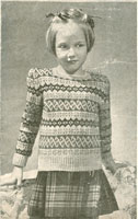 vintage girls fair isle knitting patterns