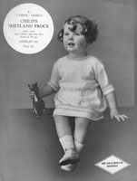 vintage baby dress knitting pattern 1920