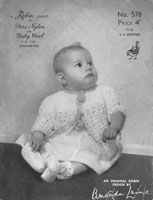 vintage baby jacket crochet pattern early robin pattern