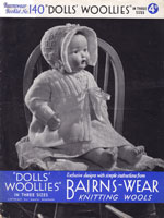 vintage doll knitting pattern for baby doll ourfit bairnswear 1940s