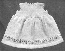 vintage knitting pattern from 1940s for petticoat