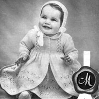 vintage baby layette knitting pattern from 1940s
