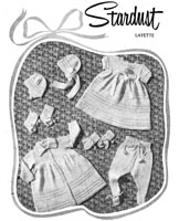 vintage baby knitting pattern fro a layette from 1940s
