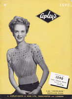 vinage ladies jumper knitting patterns 1940