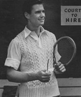vintage tennis jumper from ww2 1942
