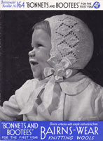 vintage baby bonnet knitting pattertns 1940s