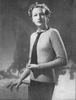 ladies ladies jumper tie and belt knitting pattern from 1936