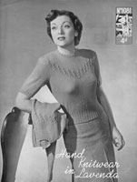 vintage ladies twinseet knitting pattern from lavenda 1081 1930s