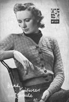 vintage cardigan knitting pattern from 1930s lavenda 509