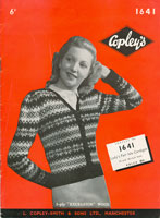 vintage knitting pattern for fair isle cardigans