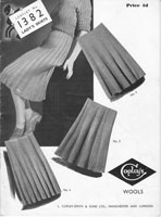 vintage ladies skirt knitting pattern 1940s