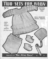 vintage dress set knitting pattern new idea australian  baby knitting patterns