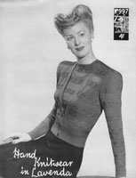 vitnage ladies cardigan and jumper knitting pattern 1940s