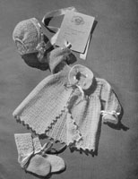 crochet and knitted set for baby 1940s