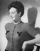 vintage ladies knitting pattern for jumper from 1944