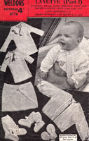 vintage baby vest and cardigan knitting pattern weldons 1940s