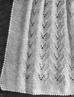 vintage baby 4ply shawl knitting pattern 1940s
