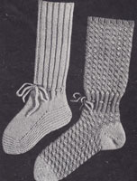 vintage childs bed sock knitting pattern 1930s