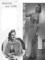 vintage ladies knitting pattern for vintage nightdress 1930s