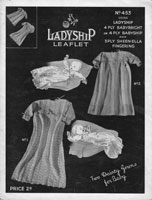 vintage baby dress and jacket knitting pattern 1940s