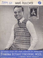 vintage 1930s mens fair isle knitting patterns