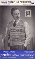 bairnswear 1940s mens fair isle knitting patterns