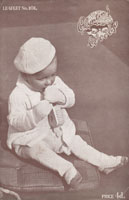 vintage baby knitting pattern pramset with beret 1940s