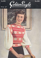 vintage ladies peasant style jumper from 1940s golden eagle 892
