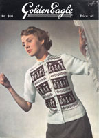 vintage ladies cardigan knitting pattern from 1940s golden eagle 910