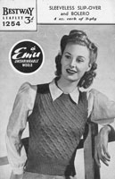 vintage ladies tank top knitting pattern 1940s