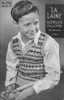 vintage boys fair isle slipover or tank top 1940s