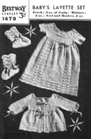 vintage bestway knitting pattern 1940 dress and jacket