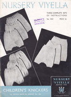 vintage girls knickers knitting pattern 1930s