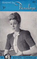 vintage ladies bolero knitting pattern 1950s
