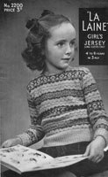 vintge girls fair isle jumper knitting pattern 1940s