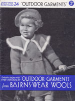 vitnage girls coat and hat knitting pattern 1930s 2 to 3 years old