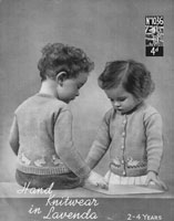 vintage baby  toddler cardigan fair isle duck motif 1940s lavenda knitting patterns