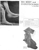 vintage sea boot sock knitting pattern 1940s