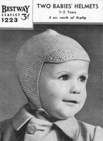 vintage baby hats knitting pattern 1940s