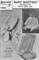 vintage baby bootees knitting pattern 1930s