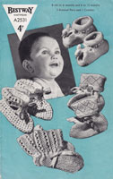 vintage baby bootees knitting patterns 1940s
