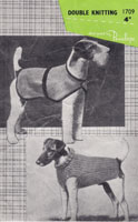 vintage dog coat knitting patterns