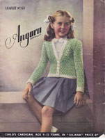 vintage fair isle childs cardigan knitting pattern 1930