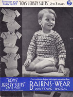vintage boys fair isle jumper 1930s