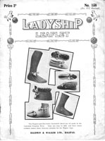 vintage early knitting pattern for bed socks and slippers