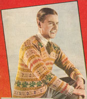 Vintage Mens Fair Isle knitting pattern